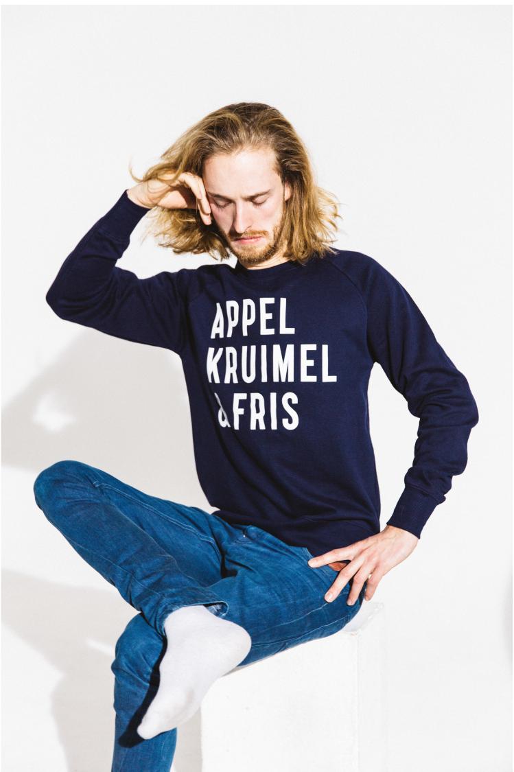 Sweater Navy Unisex AppelKruimel&Fris from AppelKruimel&Fris