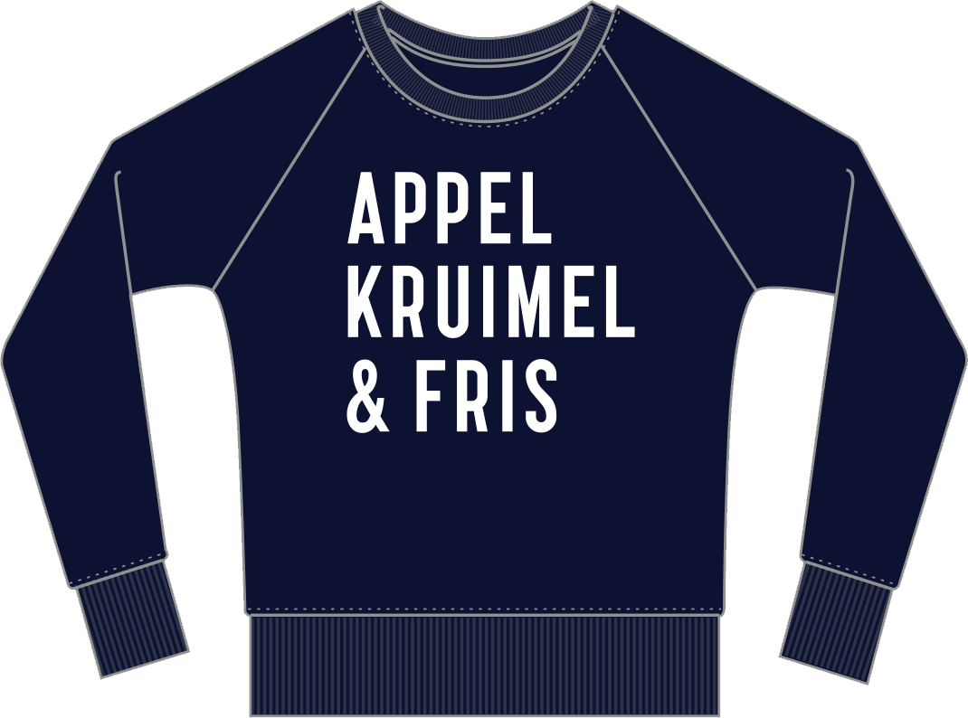 Sweater Navy Unisex AppelKruimel&Fris from AppelKruimel&Fris